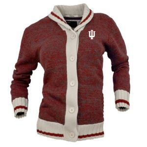 IU Indiana University collegiete cardigan size S